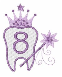 Tooth Fairy Font 8 embroidery design