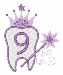 Tooth Fairy Font 9 embroidery design