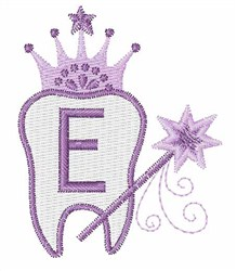 Tooth Fairy Font E embroidery design