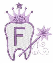 Tooth Fairy Font F embroidery design