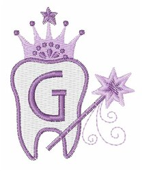 Tooth Fairy Font G embroidery design