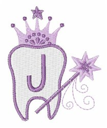 Tooth Fairy Font J embroidery design