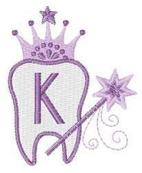 Tooth Fairy Font K embroidery design