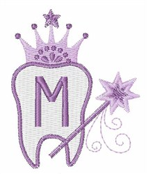 Tooth Fairy Font M embroidery design