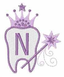 Tooth Fairy Font N embroidery design
