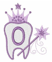 Tooth Fairy Font O embroidery design