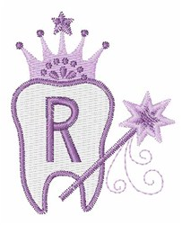Tooth Fairy Font R embroidery design