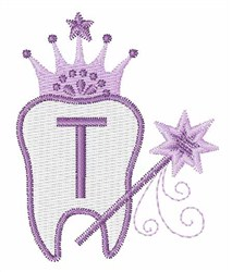 Tooth Fairy Font T embroidery design