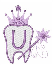 Tooth Fairy Font U embroidery design