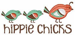Hippie Chicks embroidery design