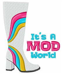 A Mod World embroidery design