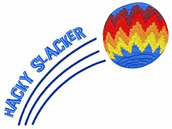 Hacky Slacker embroidery design