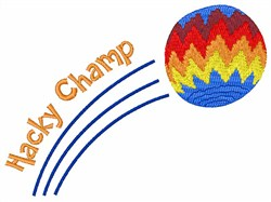 Hacky Champ embroidery design