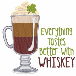 Better With Whiskey embroidery design