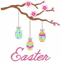 Easter Branch embroidery design