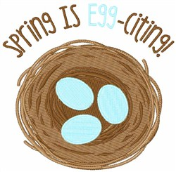 Spring Is Egg-citing embroidery design