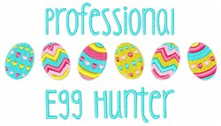 Professional Egg Hunter embroidery design