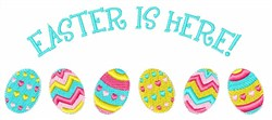 Easter Is Here embroidery design