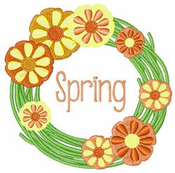 Spring Wreath embroidery design