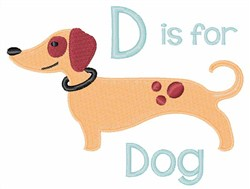 D For Dog embroidery design