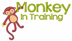 Monkey In Training embroidery design