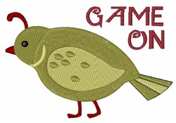 Game On embroidery design
