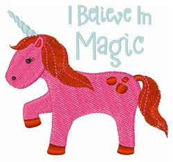 I Believe In Magic embroidery design