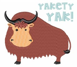 Yakety Yak embroidery design