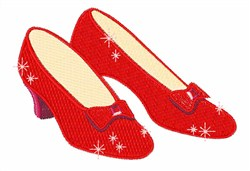 Ruby Slippers embroidery design