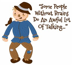 People Without Brains embroidery design