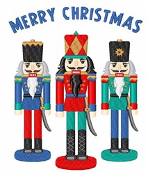 Merry Nutcrackers embroidery design