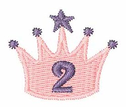 Crown Font 2 embroidery design