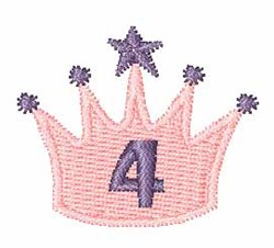 Crown Font 4 embroidery design