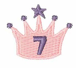 Crown Font 7 embroidery design