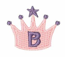 Crown Font B embroidery design
