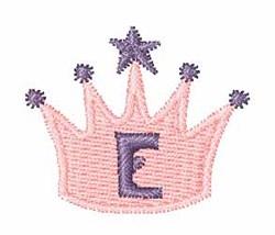 Crown Font E embroidery design