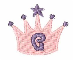 Crown Font G embroidery design