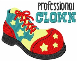 Professional Clown embroidery design
