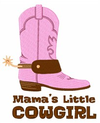 Mamas Little Cowgirl embroidery design