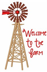 Farm Welcome embroidery design