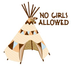 No Girls Allowed embroidery design
