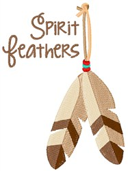 Spirit Feather embroidery design