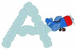 Airplane Smoke A embroidery design