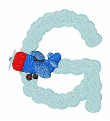 Airplane Smoke G embroidery design