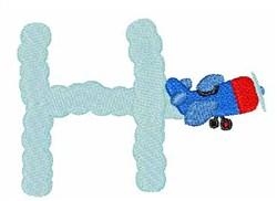 Airplane Smoke H embroidery design