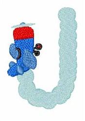 Airplane Smoke J embroidery design