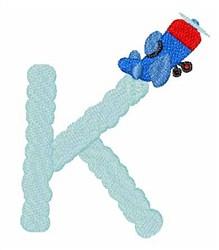 Airplane Smoke K embroidery design