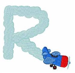 Airplane Smoke R embroidery design