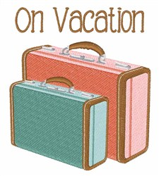 On Vacation embroidery design
