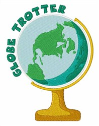 Globe Trotter embroidery design